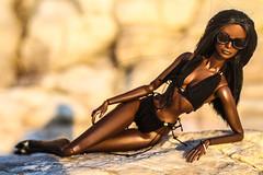 Life is a Beach outfit (dollsalive) Tags: bionicajordan fashionroyalty fr2 fashiondoll fashionroyaltydoll fashiondollrepaint dollfashion dollshoes dolloutfit doll swimming suit