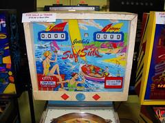 Surf Side (scottamus) Tags: pinball machine game table arcade backbox backglass translite art artwork graphics design surfside gottlieb 1967