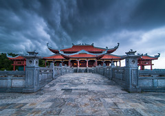Quiet Temple (2) (=Heo Ngốc=) Tags: temple quy quiet building old storms rain nobody sky clouds landscape vietnam