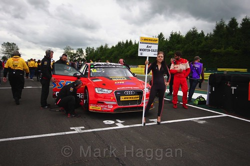 Ant Whorton-Eales on the BTCC grid at Croft, June 2017