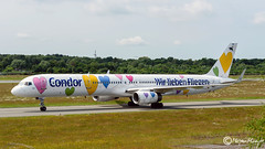 Condor, Boeing 757-330, D-ABON, 29023, June 2017 (mhoejte) Tags: hamburgfuhlsbuttel ham eddh hamburgairport