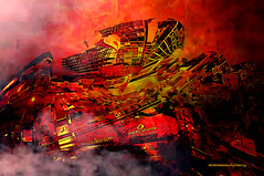 COLLAPSE. (Viktor Manuel 990.) Tags: city urban ciudad colapso collapse digitalart artedigital querétaro méxico victormanuelgómezg