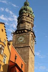 European Architecture (aadi.juvekar) Tags: europeanarchitecture europe beautifultown colourfulbuildings clocktower time bluesky