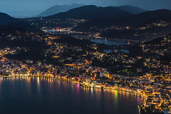 From Lugano to Varese (Ettore Trevisiol) Tags: ettore trevisiol nikon d7200 nikkor 18 70 ticino lugano swiss svizzera monte brè bluehour night landscape panorama lauis blue hour storm deluge cassarate thunderstorm flood clouds cloud sunset