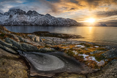 golden morning (Alexander Lauterbach Photography) Tags: lofoten norway norge nordland fjord sunrise golden morning panorama frozen mountains travel landscape sony a7r a7rii