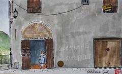 La France des Sous-Préfectures 2A (chando*) Tags: aquarelle watercolor croquis sketch france