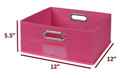HTOTE1206PK_4 (RegencyOfficeFurniture) Tags: regency niche cubo storage organization bins totes storagebin storagetote foldable folding collapsible collapsing fabric chromehandle labelholder nametag organize closet homestorage htote1206 halftote halfbin halfcube halfsizetote storagecube square pink magenta pinkstorage pinktotes pinkbins hotpink