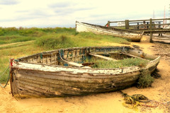 Abandoned boat, Walberswick (robin denton) Tags: boat abandonedboats walberswick hdr rnbblyth river riverblyth suffolk