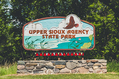 Upper Sioux Agency State Park Entrance Sign, Minnesota (Tony Webster) Tags: minnesota uppersiouxagency uppersiouxagencystatepark entrance sign signage statepark granitefalls unitedstates us wmc1830