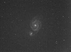 Whirlpool Galaxy M51 RBG merged (robbiehildred) Tags: itelescope spain 318mm whirlpool m51
