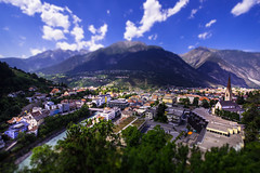 View to Landeck from Castle Landeck - Austria (R.Smrekar-CH) Tags: tiltshift city 000100 d750 smrekar austria