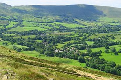 Edale village in the Vale of Edale from The Nab with Mam Tor in the background. (nick taz) Tags: edale valeofedale village countryside peakdistrictmamtor