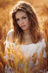 Gold (lucafoscili) Tags: outdoor beautiful beauty blueeyes bokeh candid charming colorful communication curlyhair depthoffield dress emotion emotional eyeliner eyes face fashion fashionable female field fieldofwheat freckles front girl glamour goodlooking hair happy iris light look makeup model mood moody natural nature outfit people photoshoot portrait realpeople seasonal seducing sensual stare style wheat woman young collecchio emiliaromagna italia it