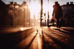 red bag (ewitsoe) Tags: refelction nikon d80 35mm street woman redbag window sunrise dawn winter poland polska europe erikwitsoe ewitsoe light shadows urban life mirror