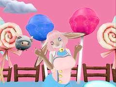 BubbleGumBun (EvvyEnvy) Tags: secondlife bubblegum sweets candy lapin usagi rabbit lollipops flyingbluesheep heterochromia
