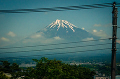 Wired Fuji (Mule67) Tags: wires 2017 japan fuji mountain bullet train snow 5photosaday
