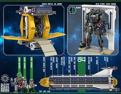 Queen Aurora 20 (messerneogeo) Tags: messerneogeo robot mech mecha queen aurora spaceship battleship ninja ganzo lego