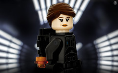 Jyn Erso (jezbags) Tags: lego legos toys toy minifigure minifigures macro macrophotography macrodreams macrolego canon60d canon 60d 100mm closeup upclose starwars star wars rogueone rogue imperial jyn erso death rebels