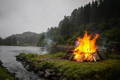 Sankthans (Jhfred) Tags: sankthansaften sankthans fire bonfire summer rain weather water