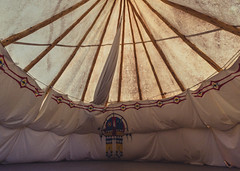 Inside a Tipi at Upper Sioux Agency State Park, Minnesota (Tony Webster) Tags: minnesota uppersiouxagency uppersiouxagencystatepark camp campground camping statepark teepee tepee tipi tipicamping wmc1830