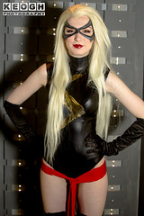 IMG_9572.jpg (Neil Keogh Photography) Tags: gloves films videogames blonde woman marvel gold leather boots velvet red female cosplay movies highheeledboots highheels salfordcomiccon2017 leotard mask marvelcomics wig black comics cosplayer cartoons sash msmarvel