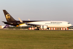 N338UP UPS United Parcel Service B767-300/WL London Stansted Airport (Vanquish-Photography) Tags: vanquish photography vanquishphotography ryan taylor ryantaylor aviation railway canon eos 7d 6d aeroplane train spotting egss stn londonstansted londonstanstedairport stanstedairport n338up ups united parcel service b767300wl london stansted airport