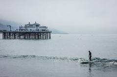 lone surfer (Karol Franks) Tags: malibu surfrider morning surf socal ilovela california pier lone surfer beach serene ride wave