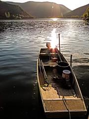 Barca (snorky_x) Tags: piediluco barca lake umbria water tramonto sunset light riflessi