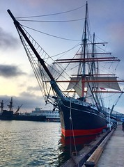 Star of India... (mar-itz) Tags: explore ship sail california sandiego embarcadero maritza 1863 euterpe starofindia iron old active isleofman museum star india sea water sunset mar atardecer velero vessel merchant immigrant historic