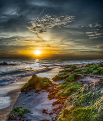 Sunset on the Rocks (DonMiller_ToGo) Tags: beachlife cloudporn landscape sunsetmadness sunsets skypainter goldenhour skycandy clouds hdr caspersenbeach outdoors skyscapes hdrphotography sky sunsetsniper nature sunset beachphotography florida