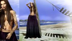 Gitana (Pau*Rubi Dexler*) Tags: sl secondlife oublirtte altamura rezologyhair beach summer girl gitana gipsy tattoo sun blog