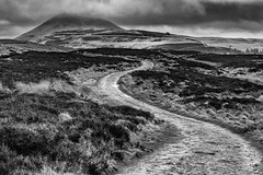The Bendy Trail (jasty78) Tags: lomondhills hill cloud black white mono fife scotland nikon d5200 sigma350mmf14