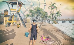 Seashell Hunting at Fall's Haven (CalebBryant) Tags: secondlife sl madpea hunt summer beach pool