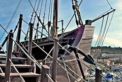 La Pinta (Franco D´Albao) Tags: francodalbao dalbao nikond60 barco boat ship carabela lapinta bayona galicia américa pinzón colón 1493