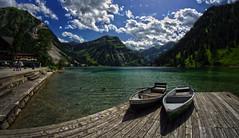 Visalpsee 1e (Bilderschreiber) Tags: visalpsee visalp tannheim tannheimer tal valley austria österreich alpen alps mountains berge boot boats weitwinkel fisheye wideangle wide angle