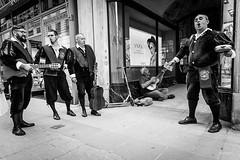Spanish concert (ignacy50.pl) Tags: people music singer team group blackandwhite streetphotography street city citylife singers homless vienna austria spanish reportage ignacy50