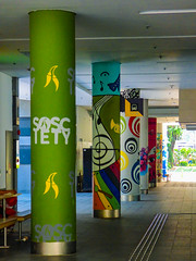 Sosciety (Steve Taylor (Photography)) Tags: sosciety mart trumpet music eye bus coach society musical note xylophone art graffiti mural streetart column building colourful asia city singapore flower tree