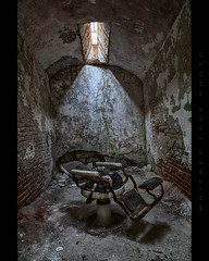 A Shave or a Shiv (Whitney Lake) Tags: pennsylvania philadelphia primitive archaic cell barberchair prison jail easternstatepenitentiary