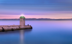 Bol (cherryspicks (on/off)) Tags: croatia sea adriatic lighthouse dusk twilight island person longexposure brac bol