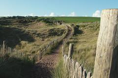 Bantham DSCF1028 RS (Swebbatron) Tags: 2009 devon england uk bantham dunes beach path fence fuji s7000 landscape radlab