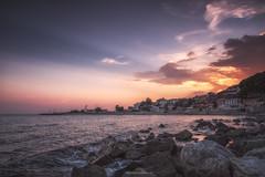 Sunset Delight... (Dimitar Balyamski) Tags: nature landsape sea seascape rocks sun sunset water cityscape clouds summer mood bulgaria nesebar fujifilm xt1 formatthitech balyamski