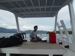 Boatman, Gili Air, Indonesia (William Gilks) Tags: giliair boat boatman sea indonesia