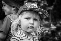 A glimpse (mirri_inc) Tags: bw blackandwhite white black monochrome closeup portrait kid child face eyes look blond nikon sigma
