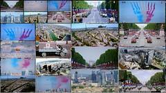 14 juillet, le matériel...... (brigeham34) Tags: télévision défilédu14juillet matériel tanks avions patrouilledefrance hélicoptères motos jeeps camions camionsdepompiers montage22photos
