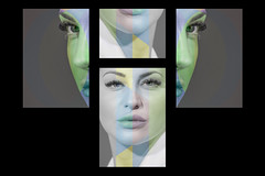 composizione (giuseppe radaelli) Tags: photo ritratto portrait modella model geometrie geometrical composizione composition colore creative