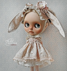 """LOVE AT FIRST SIGHT"" Luxury Ooak Silk Set For Blythe/Pullip Dolls By Odd Princess"