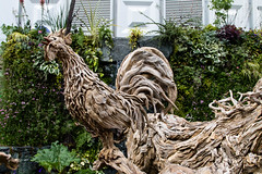 Chelsea 2017 (6) (StickyToffeeQueen) Tags: chelseaflowershow driftwood sculptures cockerel