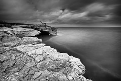 (Claire*Marsh) Tags: portland bill dorset uk jurassiccoast blackandwhite mono monochrome contrast moody le longexposure 10stopper ndfilter ndgrad cloudy gloomy sonya6000 samyang12mm wideangle lens