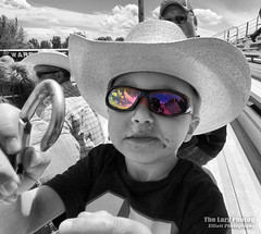 May 22 2016 - Titus at Carmen's graduation (La_Z_Photog) Tags: lazy photog elliott photography by cuca ruth selective color grandson sisters graduation worland wyoming cowboy hat four year old 052216cucagraduation