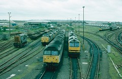 08892?, 37271 (37303), 47144, 60024 & many others Eastleigh, 13th September 1992 (ST33017) Tags: 60024 47144 37271 08892